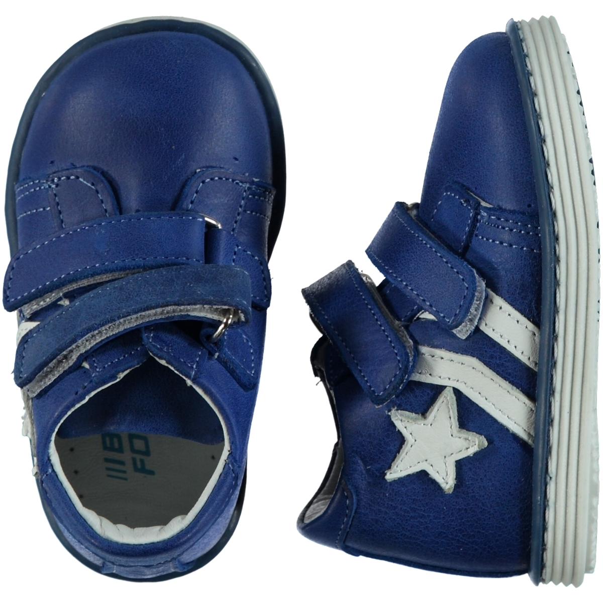 Baby Force The First Step Is To Number The Shoe 19-23 Saks Blue