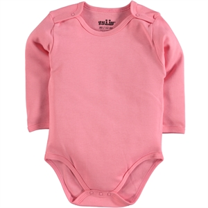 Kujju 0-1 Month Bodysuit With Snaps Combing Light Tan