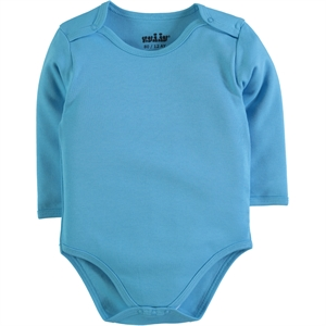 Kujju Combing 0-1 Month Bodysuit With Snaps Turquoise