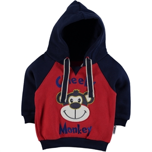 Kujju Baby Boy 6-18 Months Red Hooded Sweatshirt