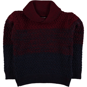 Civil Boys Age 6-9 Boy Burgundy Sweater Knitwear