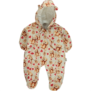 Bebecix 3-9 Months Baby Jumpsuit Astronaut Red Micro Chirping