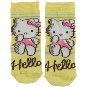 Çimpa Yellow Hello Kitty Girl Socks Age 3-9