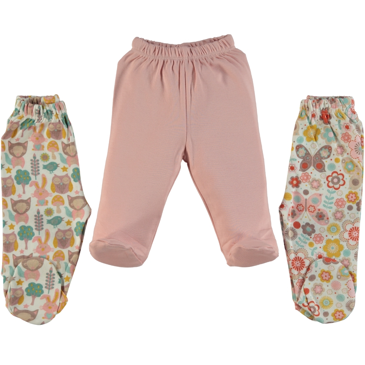 Misket Oh Baby, Booty Baby Girl Single Alt 1-9 Months, Powder Pink