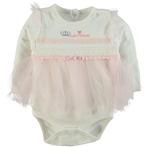 T.F.Taffy Pink Taffy Baby Girl 0-6 Months Bodysuit With Snaps (1)