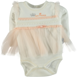 T.F.Taffy 0-6 Months Baby Girl Bodysuit With Snaps Pinkish Orange Taffy
