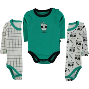Babycool Boy 3-Yesil 3-18 Months bodysuit with snaps