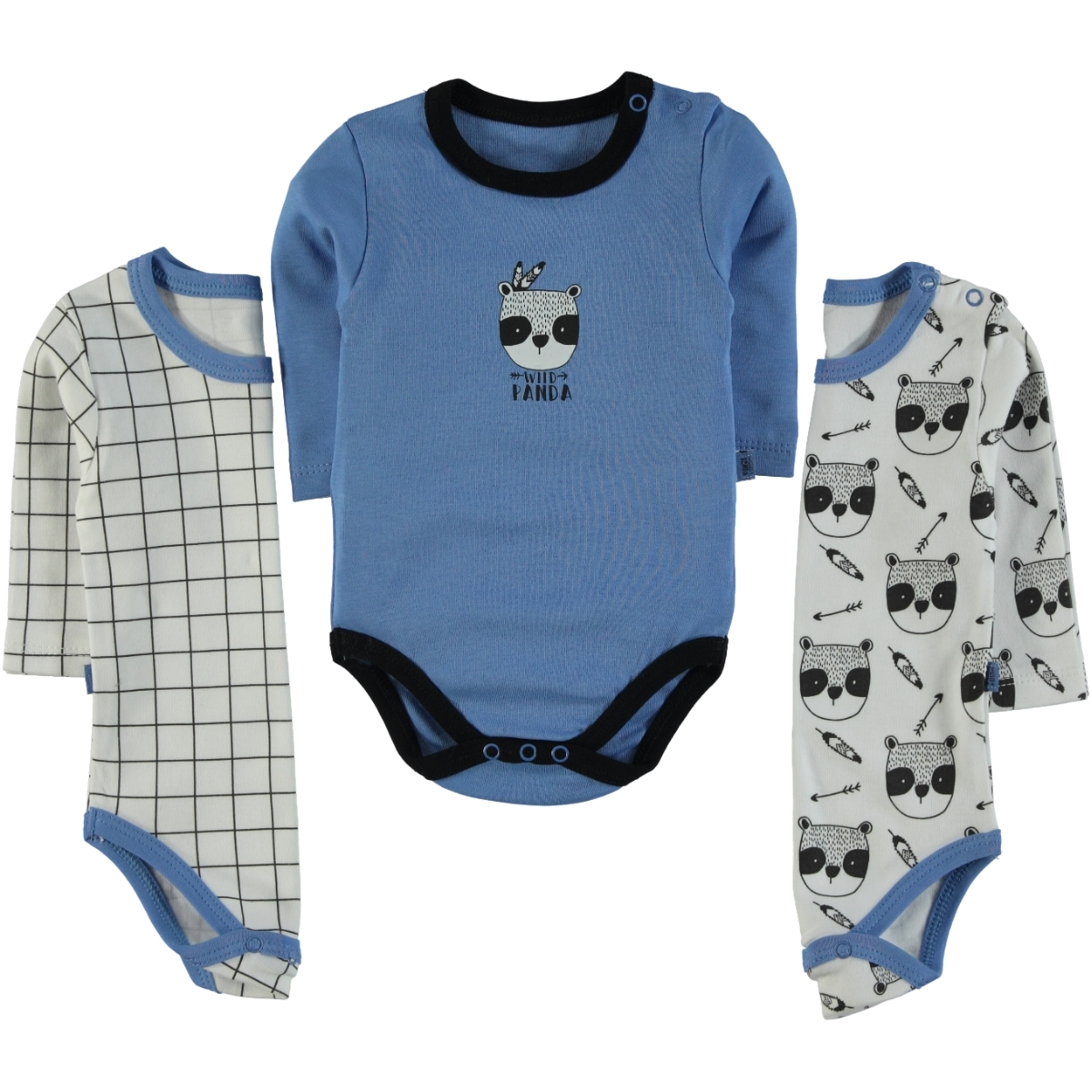 Babycool Boy 3-Months Blue bodysuit with snaps 3-18