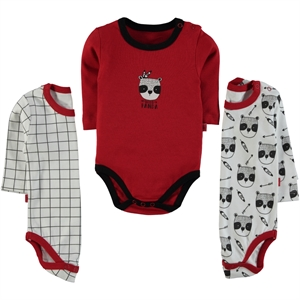 Babycool Boy 3-3-18 Months Red bodysuit with snaps