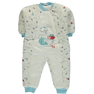 Misket Turquoise Combed Cotton Sleeping Bag 1-5 Years