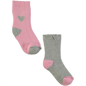 Civil Girls 3-12 2 towels Pink sock socket