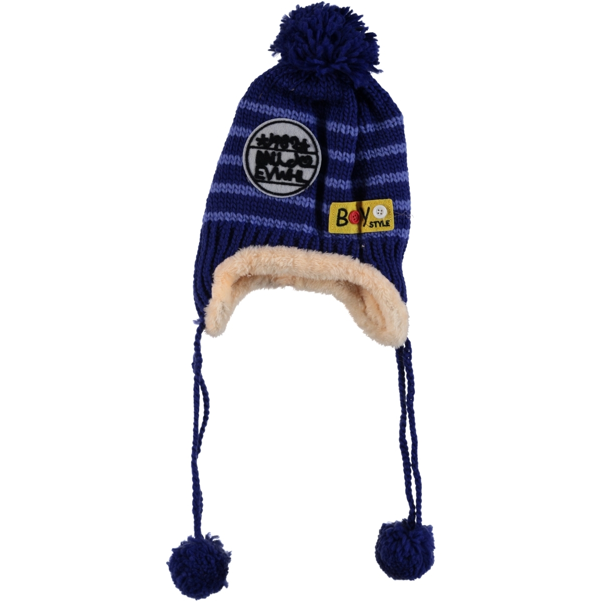 Prahar Boy Blue Beanie Saks 8-12 Years