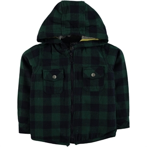 Civil Boys Yesil Hooded Shirt Boy Age 10-13