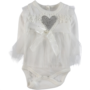 T.F.Taffy 0-6 Months Baby Girl Bodysuit With Snaps Taffy Ecru