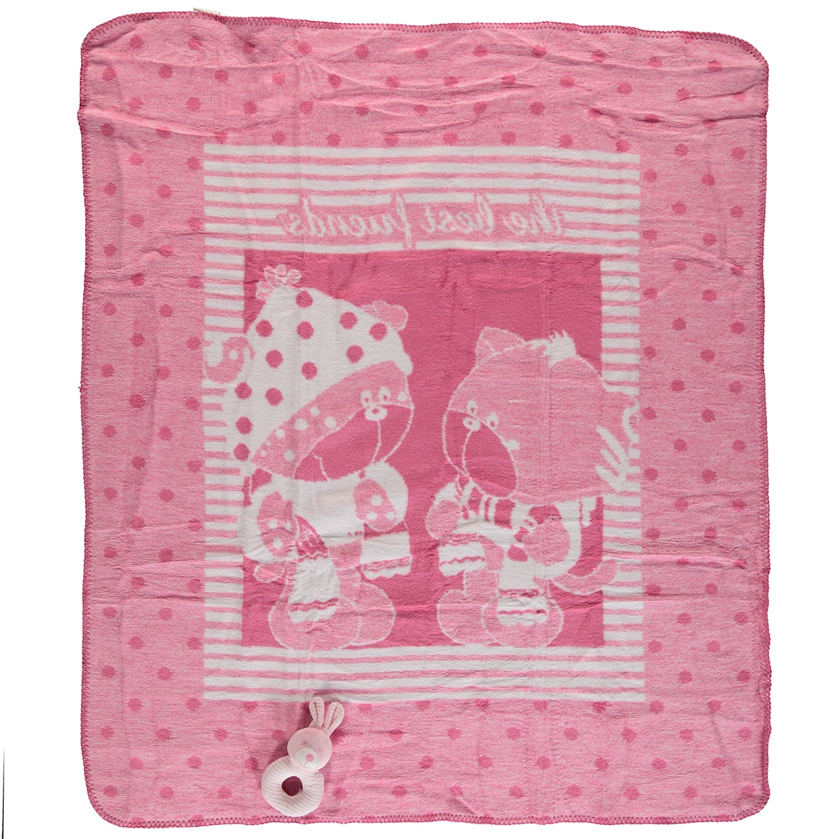 Golden Fuchsia blanket baby girl rattle is what cm will be installed