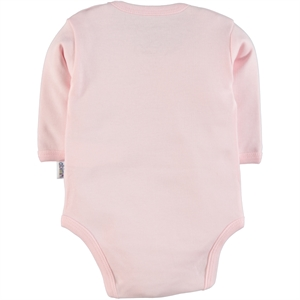 Albimini 0-24 Months Baby Pink Bodysuit With Snaps (2)