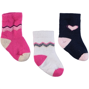 Katamino Baby girl socks 3-6 to 18 months, Fuchsia