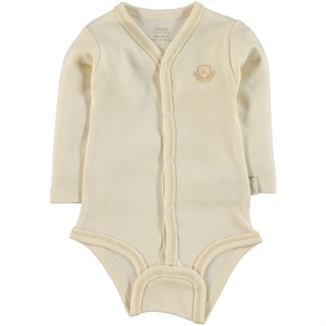 Kiti Kate Ecru Baby 0-1 Month Bodysuit With Snaps