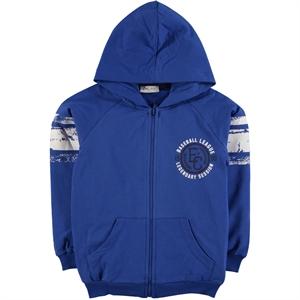 Cvl Saks Hooded Cardigan Age 6-9 Boy Blue