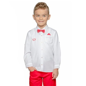 Civil Boys 2-5 Years Boy Red Shirt With A Bow Tie