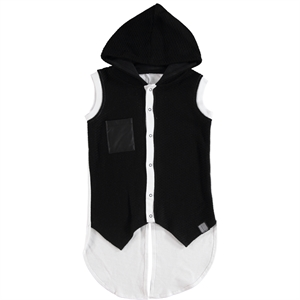 Victory The White Hooded Boy Vest Ages 6-9