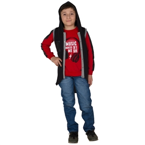 Victory Age 6-9 Boy Hooded Vest Gray