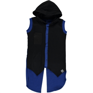 Victory Age 6-9 Boy Blue Hooded Vest Saks