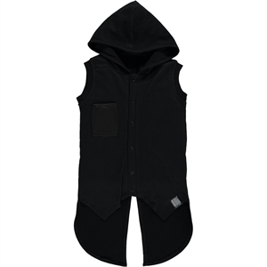 Victory Age 6-9 Boy Hooded Vest Black