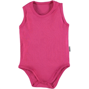 Kujju 9-18 Months Baby Fuchsia Bodysuit With Snaps