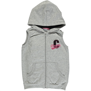 Cvl Gray Hooded Vest Girl Age 6-9
