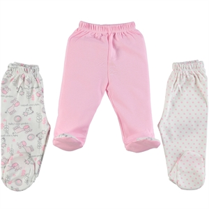 Misket Baby girls 3-Oh single child baby booty Pink