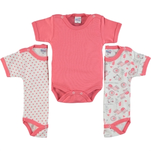 Misket Baby girl 3-0-12 months bodysuit with snaps combing, tongue in cheek