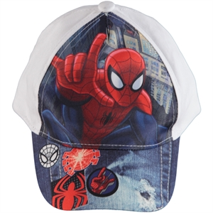 Spiderman Boy Hat White, 2-5 Years