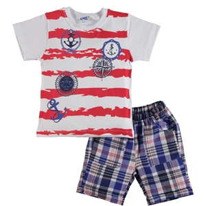 Civil Boys Team Boy's Shorts With Printed Red 2-5 Years