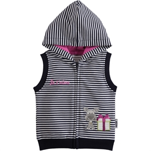Kujju 6-18 Months Baby Girl Navy Blue Hooded Vest