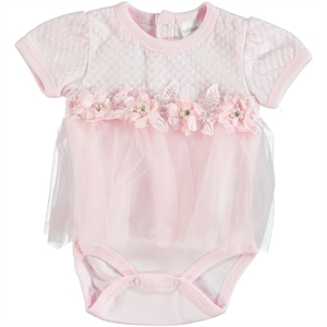 T.F.Taffy Pink Taffy Baby Girl 0-6 Months Bodysuit With Snaps