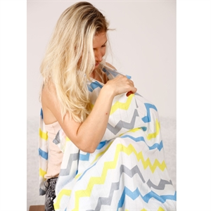 Bebekish Breastfeeding Bamboo Muslin Cloth Apron Bright (1)