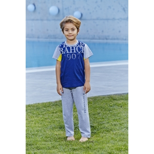 Fenerbahçe L9104 - Licensed Boy's Pajamas-Blue Team