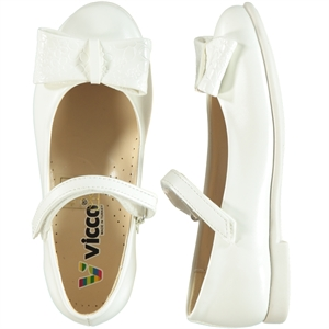 Vicco Children's White Ballet Flats Shoes 26-30 Number