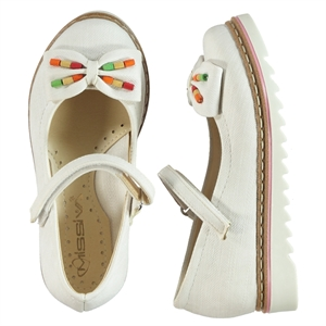 Missiva Children's White Ballet Flats Shoes 26-30 Number