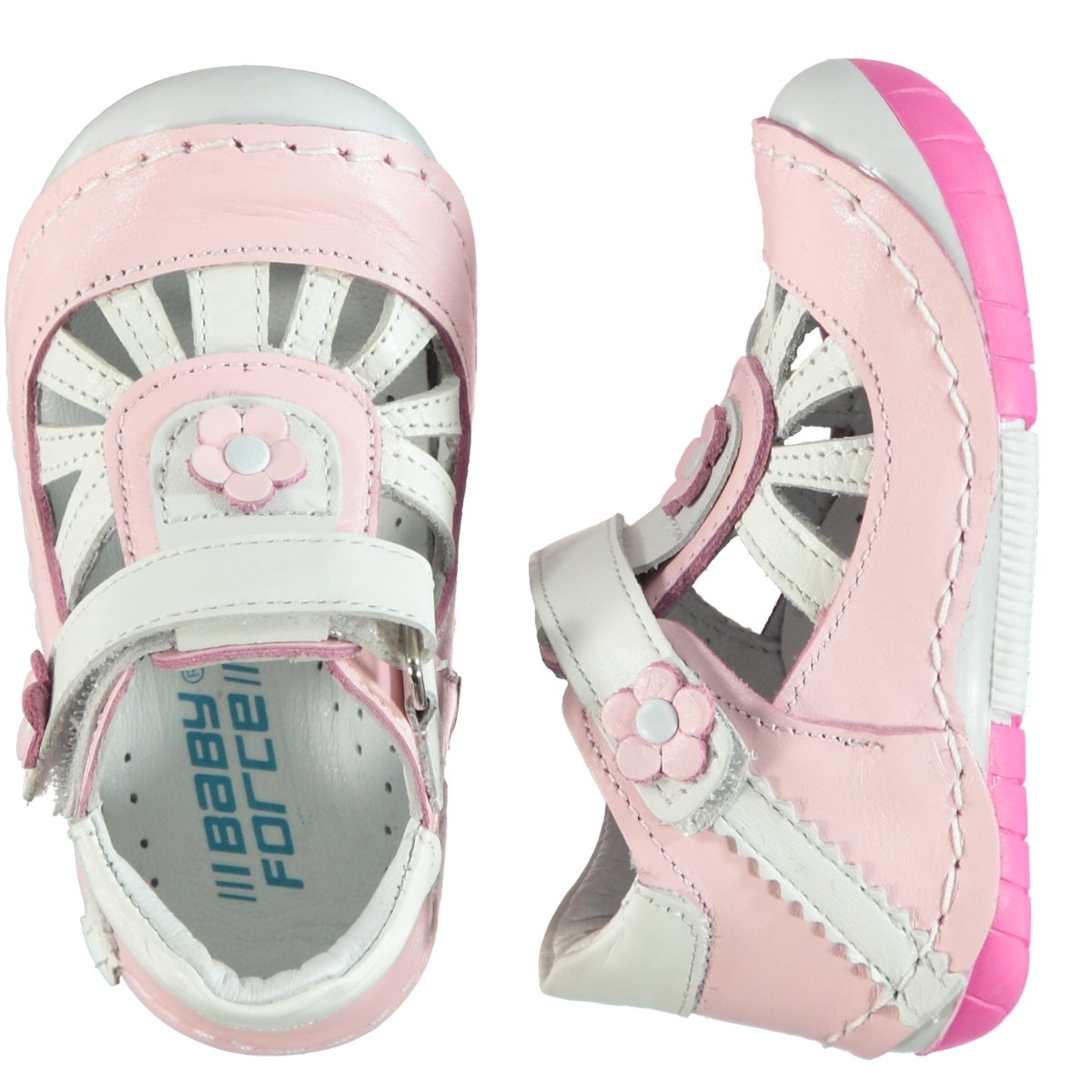 Baby Force Pink Baby First Step Shoes Number 19-22