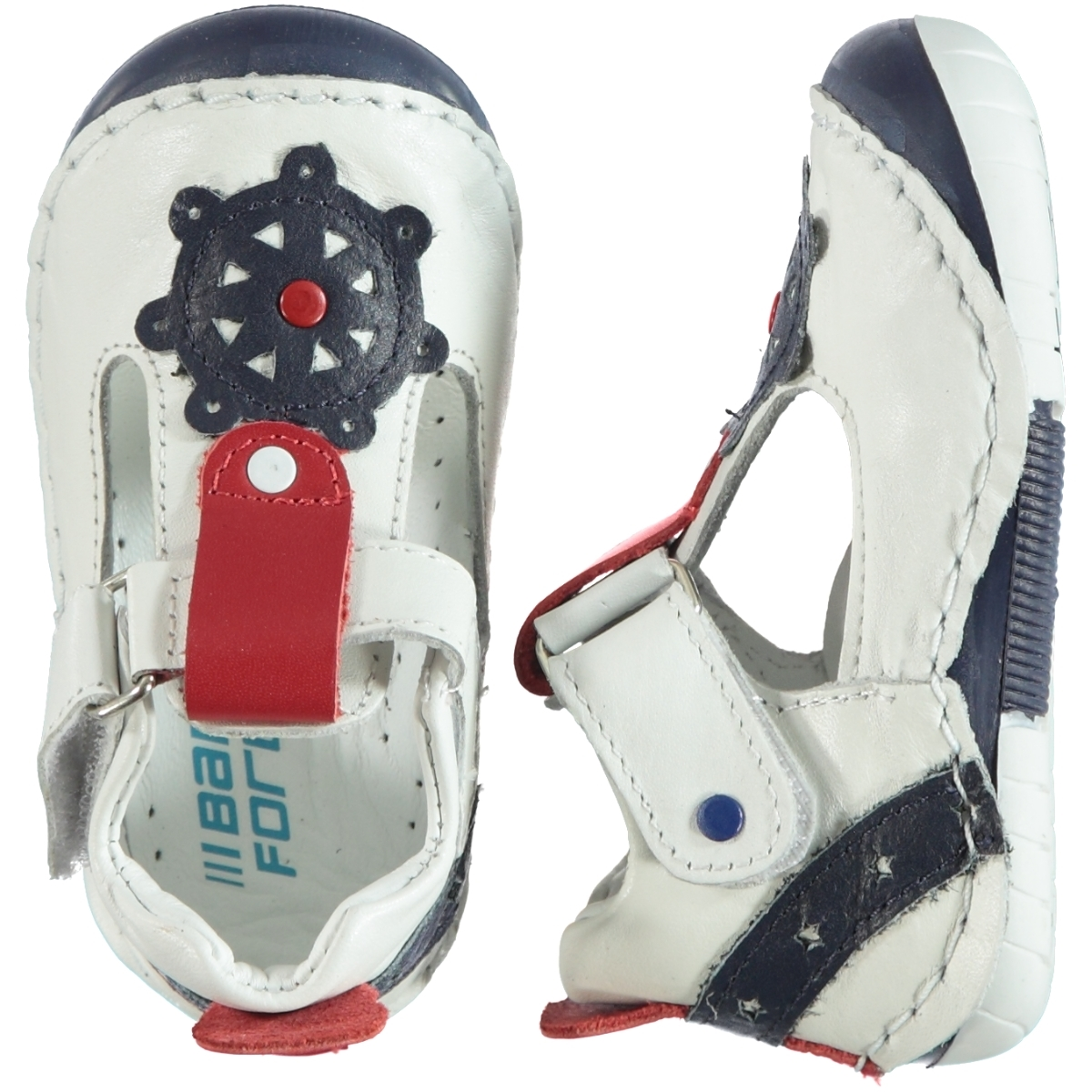 Baby Force First Step Baby Shoes White Number 19-22