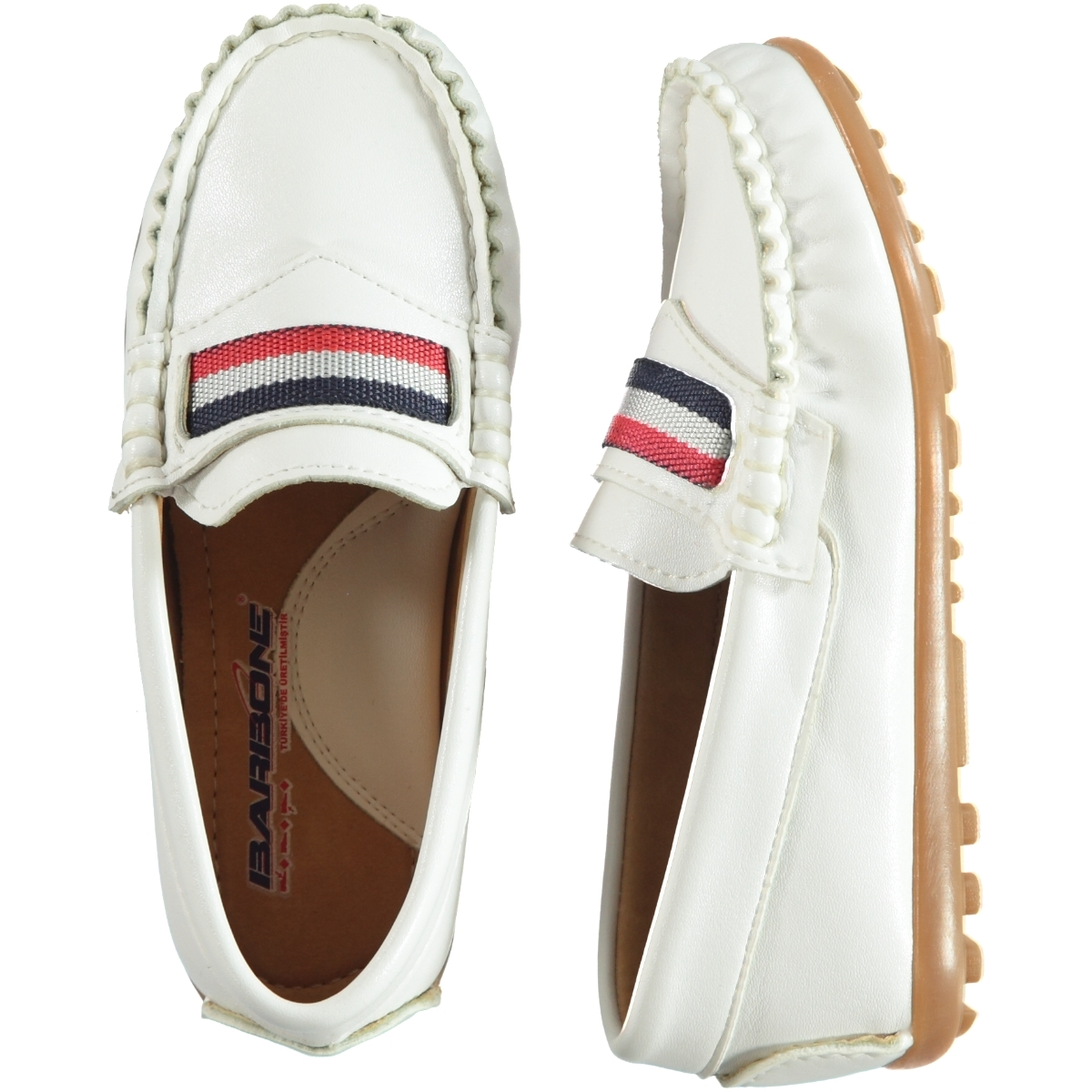 Barbone Numbers 31-35 Boy White Shoes