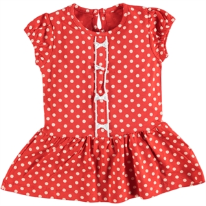 Kujju 6-18 Months Baby Girl Red Dress