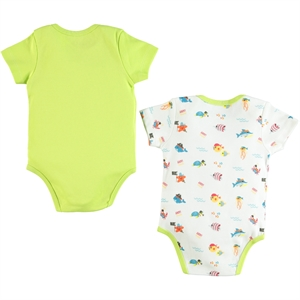 Kujju Baby boy 2-12-24 months Bodysuit with snaps Yesil (3)