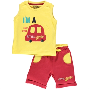 Kujju 6-18 Months Baby Boy Shorts Team Yellow