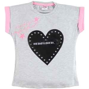 Civil Girls Girl Kids T-Shirt Age 6-9 Gray