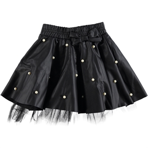 Civil Girls Leather Skirt Girl Age 3-10 Black