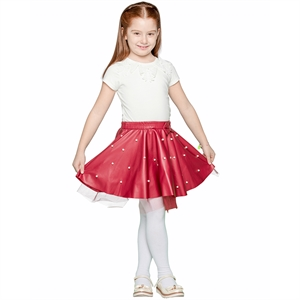 Civil Girls Burgundy Leather Skirt Girl Ages 3-10