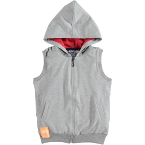 Civil Boys Age 6-9 Boy Hooded Vest Gray